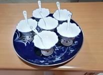 بستنی خوری پایه قلبی با قاشقهای خوش مدل در شیپور-عکس کوچک