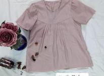 بلوز آستین کوتاه، پارچه نخی  در شیپور-عکس کوچک