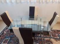 میز غذا خوری شیشه ای با صندلی چرمی در شیپور-عکس کوچک
