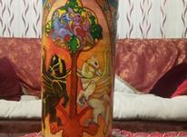 کوزه ی سفالی نقاشی شده کاردست در شیپور-عکس کوچک