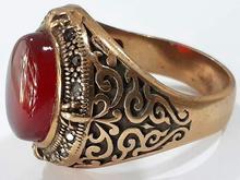 انگشتر طلاروسی عقیق سرخ در شیپور