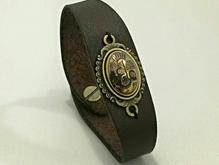 دستبند چرم با نگین حدید  در شیپور