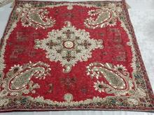 رومیزی مربع ترمه منجوق و سرمه دوزی شده ترمه رضایی در شیپور