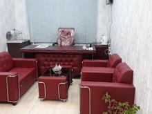 نیم ست مبل اداری 4 نفره مشکی در شیپور