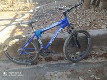 دوچرخه سایز 26 بدنه آلمینیومی سند دار رنگ آبی در شیپور
