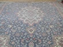 1 جفت فرش 12 متری فیروزه ای ابریشم گونه در شیپور