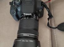 دوربین کنون 700d با لنز 135 18همراه کارتون نو و سالم و تمیز  در شیپور-عکس کوچک