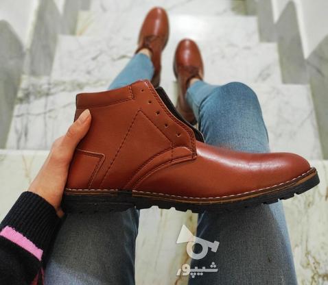 نیم بوت چرم در دو رنگ موجود است در گروه خرید و فروش لوازم شخصی در تهران در شیپور-عکس3