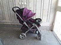 کالسکه بچه بنفش رنگ در شیپور-عکس کوچک