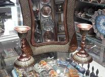 آینه و شمعدان مس و خاتم  در شیپور-عکس کوچک