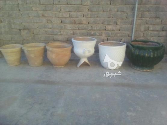 6عدد گلدان سفالی و سرامیکی در گروه خرید و فروش لوازم خانگی در خراسان شمالی در شیپور-عکس1