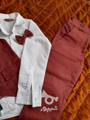 لباس سه تیکه پسرانه سایز 4 در گروه خرید و فروش لوازم شخصی در خراسان رضوی در شیپور-عکس3
