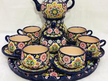 سرویس چای خوری میناکاری شده 18پارچه در شیپور