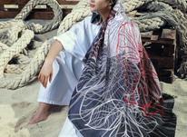 روسری شاین دور دست دوز در شیپور-عکس کوچک
