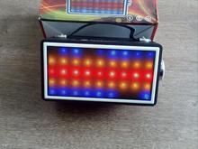 اسپیکر بلوتوثی رقص نور  رنگی led مولتی کالر به صدا مدل رادیو در شیپور