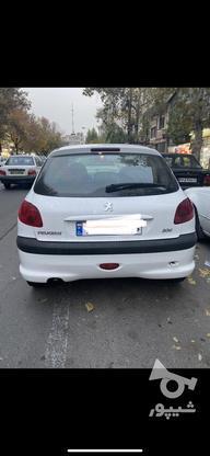 206 تیپ 5 سفید سالم و بی رنگ در گروه خرید و فروش وسایل نقلیه در تهران در شیپور-عکس1