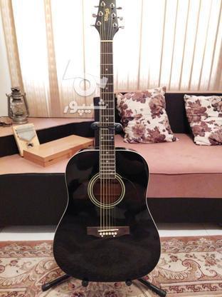 گیتار اکوستیک استگ همراه با پایه گیتار در گروه خرید و فروش ورزش فرهنگ فراغت در البرز در شیپور-عکس1
