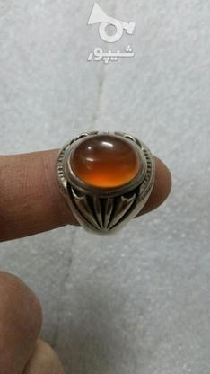 انگشتر عقیق ابدارزیبا سنگ طبیعی بینظیر  در گروه خرید و فروش لوازم شخصی در زنجان در شیپور-عکس2