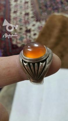 انگشتر عقیق ابدارزیبا سنگ طبیعی بینظیر  در گروه خرید و فروش لوازم شخصی در زنجان در شیپور-عکس4