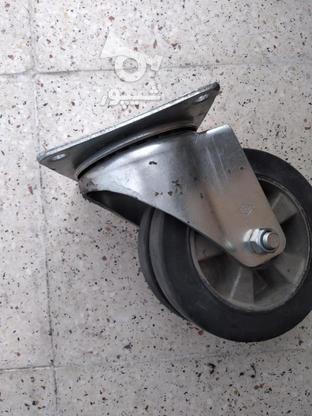 چرخ دوبل گردان تایوانی با براکت استیل  در گروه خرید و فروش صنعتی، اداری و تجاری در سمنان در شیپور-عکس3