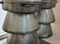 دیگ آشپزخانه بزرگ آلومینیوم و اجاق گاز در شیپور-عکس کوچک