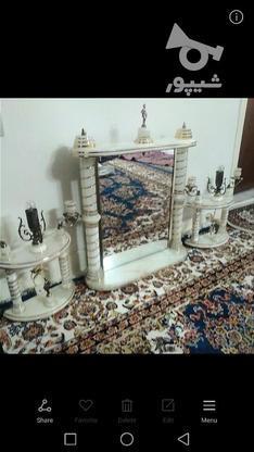 اینه شمعدان جنس مرمر وبرنج در گروه خرید و فروش لوازم خانگی در تهران در شیپور-عکس1