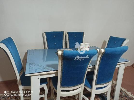 غذاخوری 6نفره به رنگ آبی  در گروه خرید و فروش لوازم خانگی در آذربایجان غربی در شیپور-عکس2