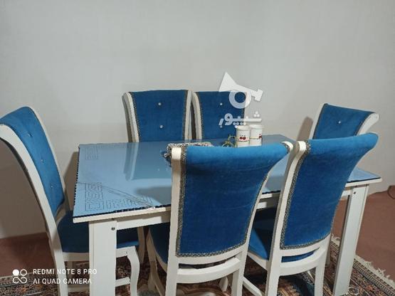 غذاخوری 6نفره به رنگ آبی  در گروه خرید و فروش لوازم خانگی در آذربایجان غربی در شیپور-عکس3