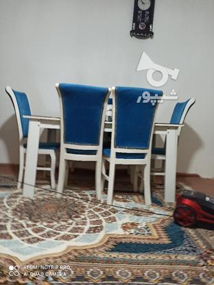 غذاخوری 6نفره به رنگ آبی  در گروه خرید و فروش لوازم خانگی در آذربایجان غربی در شیپور-عکس1