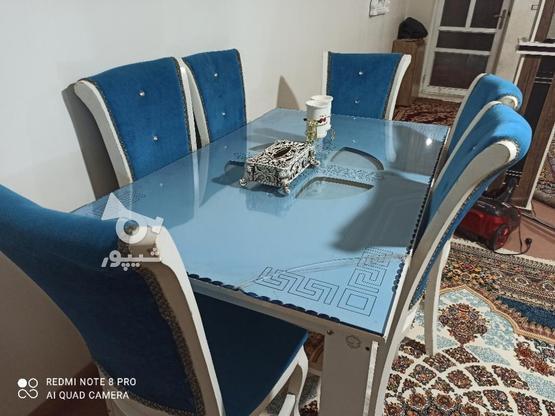 غذاخوری 6نفره به رنگ آبی  در گروه خرید و فروش لوازم خانگی در آذربایجان غربی در شیپور-عکس4