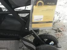 کالسکه دوقلو مارک دلیجان همراه باساک لوازم کودک در شیپور