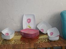 6بشقاب سرامیکی و یک دیس،6 کاسه سوپ خوری و یک سوپ خوری در شیپور