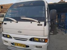 مینی بوس هیوندا 89 در حال کار  موتوری سالم کولر سالم  در شیپور