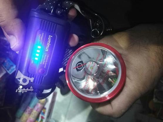 چراغ قوه بسیار زیباو پرقدرت پیشانی  باآمپرنشان  دهنده شارژ در گروه خرید و فروش لوازم الکترونیکی در آذربایجان غربی در شیپور-عکس4