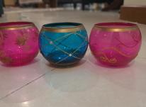 سه عدد جا شمعی در شیپور-عکس کوچک