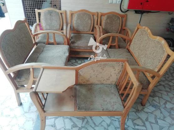 مبل 7 نفره به همراه صندلی تلفن در گروه خرید و فروش لوازم خانگی در گیلان در شیپور-عکس1