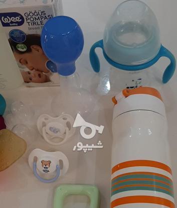 فلاسک شیشه شیر پستونک سیسمونی نوزاد در گروه خرید و فروش لوازم شخصی در تهران در شیپور-عکس5