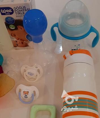 فلاسک شیشه شیر پستونک سیسمونی نوزاد در گروه خرید و فروش لوازم شخصی در تهران در شیپور-عکس3