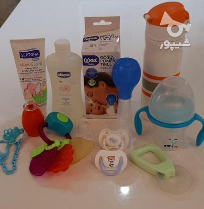 فلاسک شیشه شیر پستونک سیسمونی نوزاد در گروه خرید و فروش لوازم شخصی در تهران در شیپور-عکس1