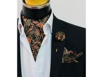 ست دستمال گردن و پوشت و گل یقه در شیپور
