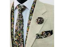 ست شال کروات دستمال جیبی گل یقه در شیپور-عکس کوچک