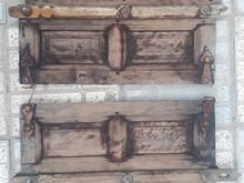 دو عدد درب پنجره چوبی  در شیپور
