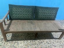 تخت چوبی به همراه پشتی در شیپور