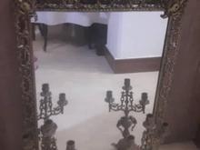 آینه و شمعدان برنز اصل بدون هیچ مشکل تمیز نو در شیپور
