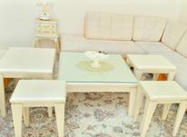 میز جلو مبلی و 4 تا عسلی و یک نیز تلفن در شیپور-عکس کوچک