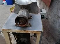 چرخ.  گوشت در شیپور-عکس کوچک