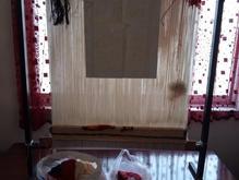 دار قالی سوره کوثر چند ردیف بافته شده در شیپور