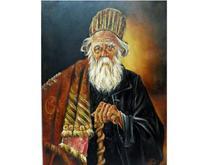 تابلوی نقاشی رنگ روغن روی بوم مدل پیرمرد درویش در شیپور