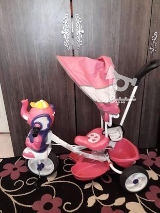 سه چرخه بچگانه زیاد استفاده نشده تخفیف هم داره در گروه خرید و فروش ورزش فرهنگ فراغت در تهران در شیپور-عکس2