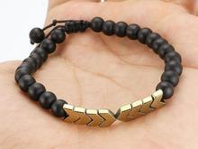 دستبند مروارید و حدید پسرانه یا دخترانه  در شیپور